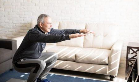 Cardio For Bad Knees - squat