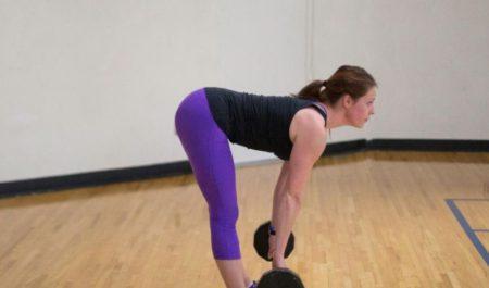 Resistance Band Back Exercises - stiff legged deadlift