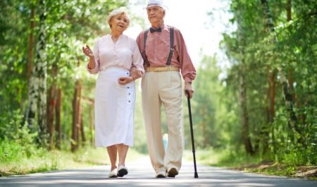 Posture Exercises For Seniors - walking seniors