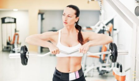 Cable Front Raise - Barbell Front Raise