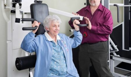 Exercises For Flabby Arms Over 60 - Shoulder Press