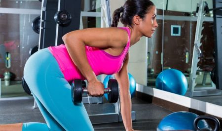 Dumbbell Rear Lateral Raise - Single Arm Bent Over Rows