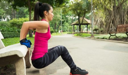 Seated Tricep Press - Triceps Dips Workout