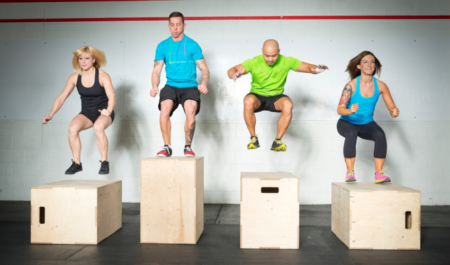 Hip Extension Exercises - box jumps