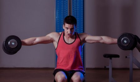 Dumbbell Rear Lateral Raise -dumbbell lateral raise seated