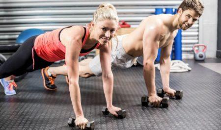 Inner Chest Workout - dumbbell push up