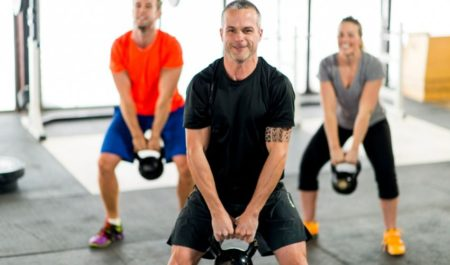 Hip Extension Exercises - kettlebells swing
