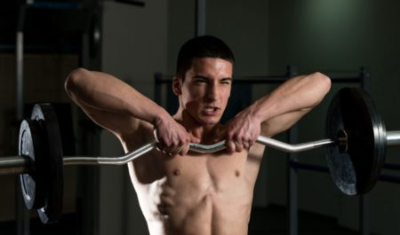 Wide Grip Pulldown - trapezius muscles workout