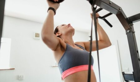 High Cable Rear Delt Fly - Assisted Pull-Ups