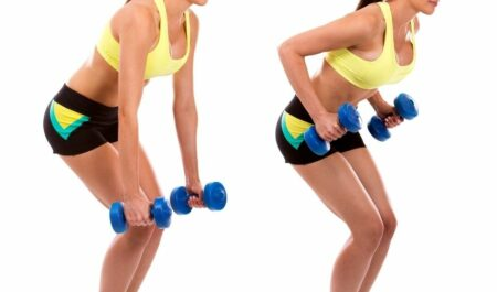 Bent Over Reverse Fly - Bent Over Dumbbell Row