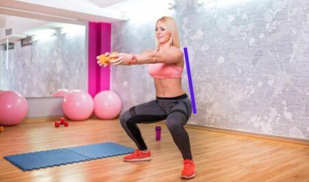 Resistance Band Squats - Corrects Squat Posture