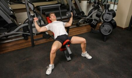 Lower Chest Workouts - Incline Dumbbell bench Fly