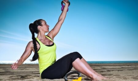 Kettlebell Arm Workout - Kettlebell Straight Arm Sit