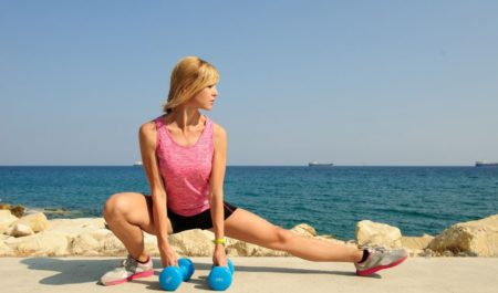 Hip Hinge Exercises - Side lunge with dumbbell
