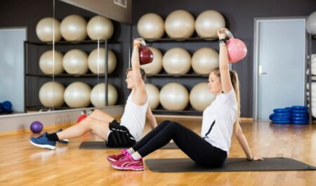 Weighted Sit Ups With Kettlebell