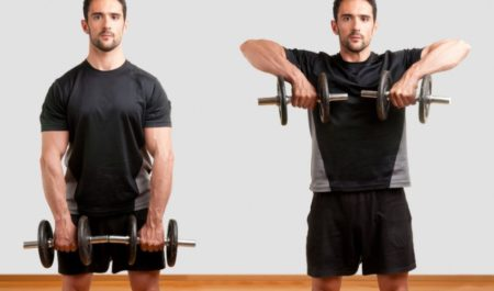 Wide Grip Upright Row Dumbbell