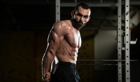 Dumbbell Floor Press - triceps muscles