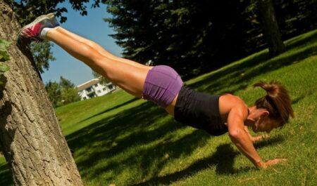 Back Workouts For Women - Decline Push-Ups