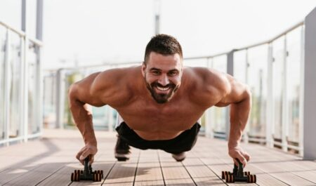 Chest Workouts With Dumbbells - Dip Push Ups