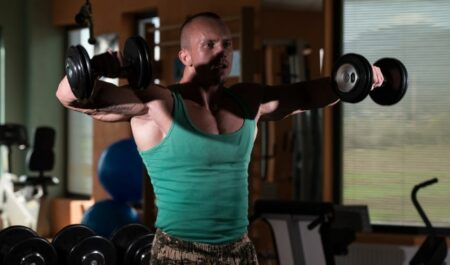 Arm Workouts At Home - Dumbbell Front Raise
