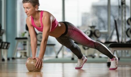 Chest Workouts For Women - Medicine Ball Push-Ups