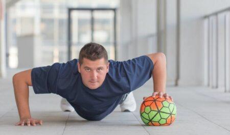 Slam Ball Exercises - Rolling Push Up