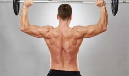 Barbell Front Raise - barbell shoulder workout