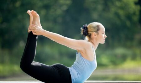 best yoga poses for weight loss - bow pose