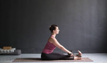 best yoga poses for weight loss - seated forward bend pose