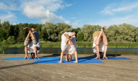 3 Person Yoga Poses - Yoga poses with three person