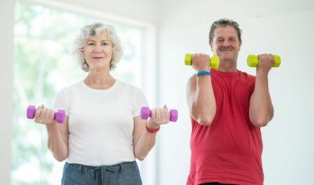 Flabby Arm Exercises For Seniors - Bicep Curls for senior