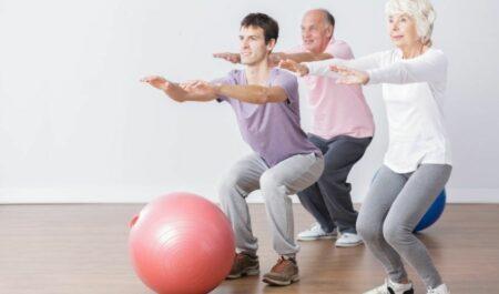 Best Ab Exercises For Women Over 50 - Body-weight Squat seniors