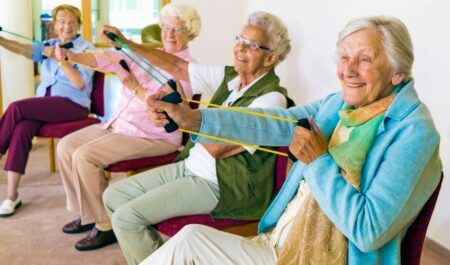 Flabby Arm Exercises For Seniors - Seated Arm Exercises