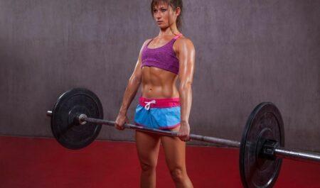 Female Bodybuilders Over 60 - Barbell Deadlift