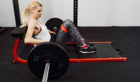 Barbell Glute Bridge - on Bench workout