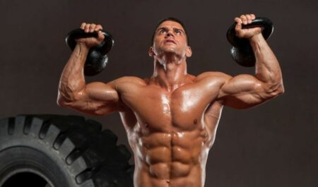 Kettlebell Clean And Press - Double Kettlebell