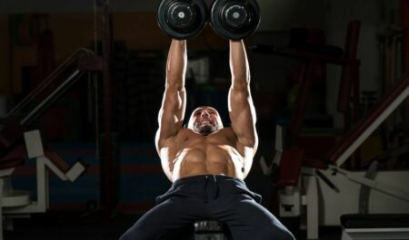 Wide Grip Bench Press - dumbbell Bench Press