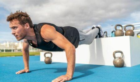 Upper Chest Workout - Decline Push-Ups
