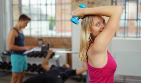 Bodyweight Chest Workout - Overhead Triceps Extension