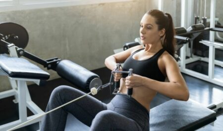 Shoulder And Back Workout - Seated cable row