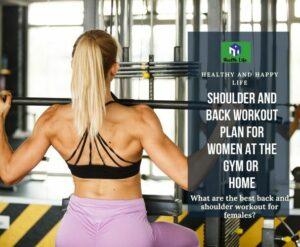 Shoulder And Back Workout
