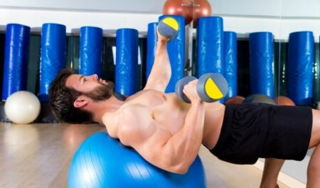 Chest Exercises Without Weights - ball chest press