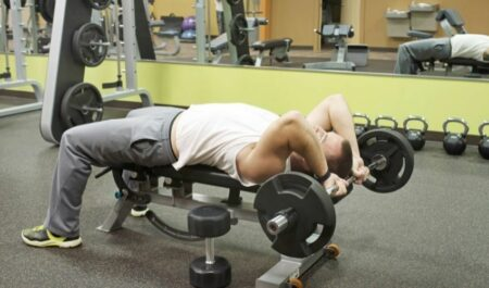 Tricep Exercises With Dumbbells - Rolling EZ-Bar
