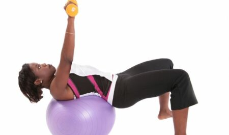 Lower Chest Workout At Home - Stability Ball Workouts