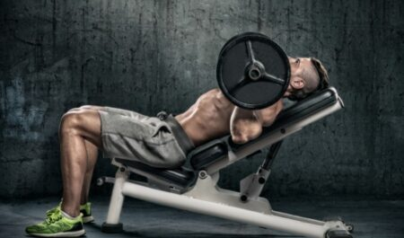 Lower Chest Workout At Home - incline bench press