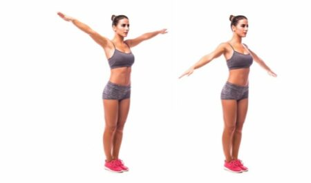 How To Lose Neck Fat - Arm circles