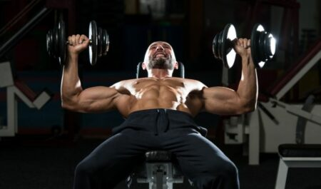 Standing Dumbbell Press - dumbbell seated workouts