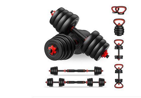 cheap adjustable dumbbells - PinRoyal 4-in-1 Adjustable Dumbbell Set